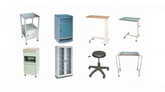 Cabinets and Lockers, Overbed Tables and Stools
