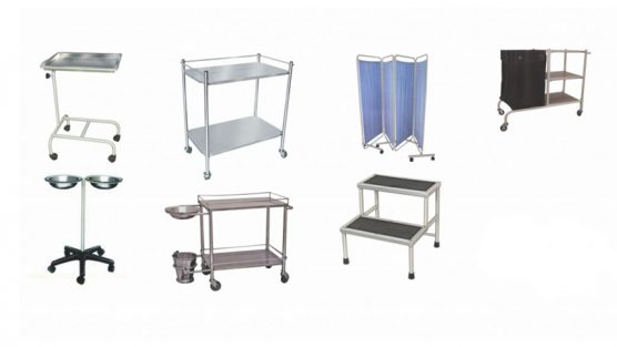 Trolleys and Carts and Other Hospital Furniture